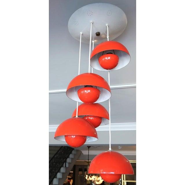 1970s 1970's Big Flower Pot Hanging Light by Verner Panton For Sale - Image 5 of 10