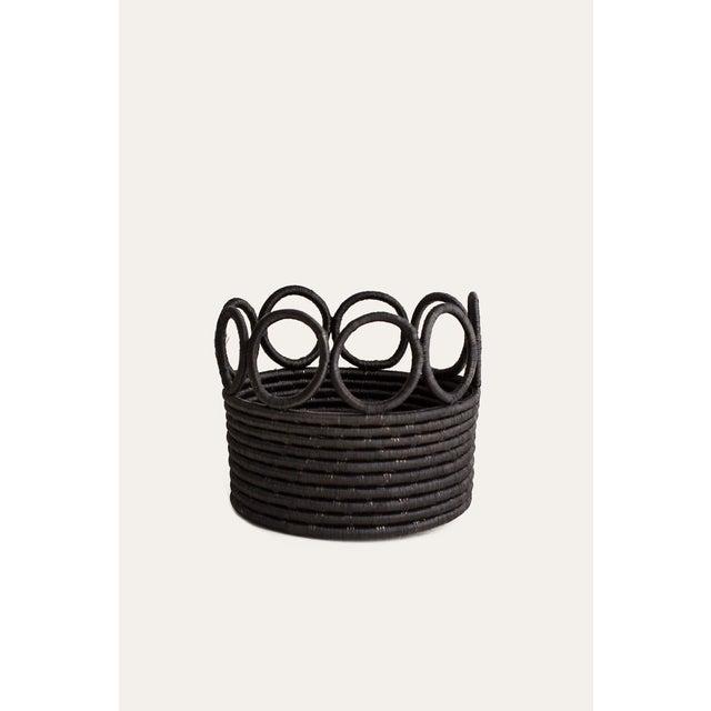 Indego Africa Handmade Ikamba Basket, Black For Sale - Image 4 of 4