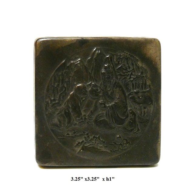 Handmade Metal Bronze Color Trinket Box For Sale - Image 5 of 5