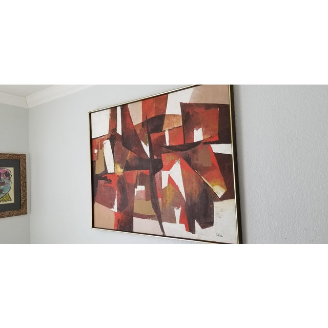 Mid-Century Acrylic on Canvas Painting by Palilo. For Sale - Image 4 of 13