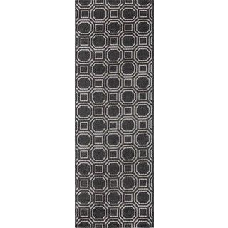 Erin Gates Downeast Camden Charcoal Machine Made Polypropylene Runner 2' X 10' For Sale