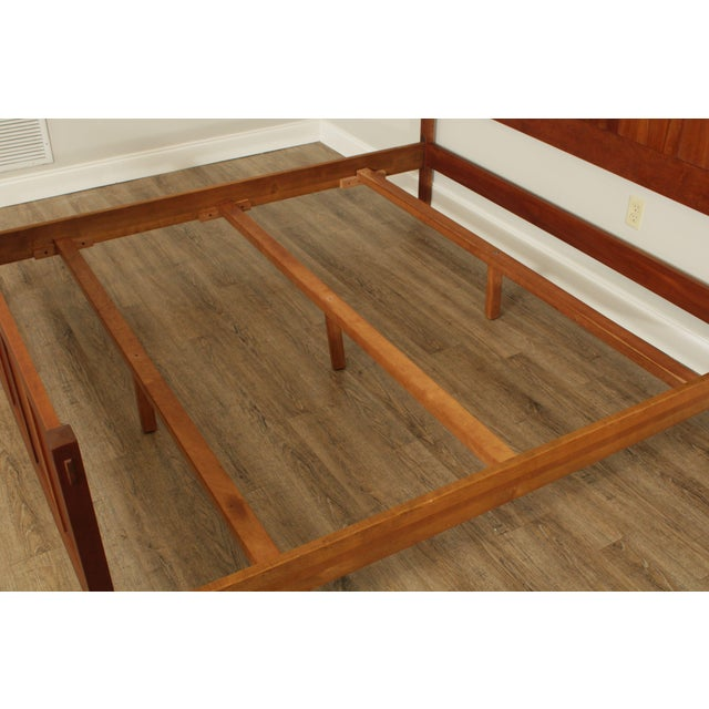 1990s Stickley Mission Collection King Size Cherry Panel Bed For Sale - Image 5 of 12