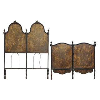 Victorian Brown Twin Bedframe For Sale