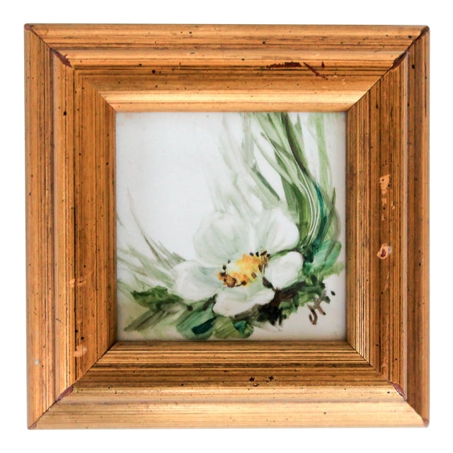 Framed Miniature Tile Painting For Sale