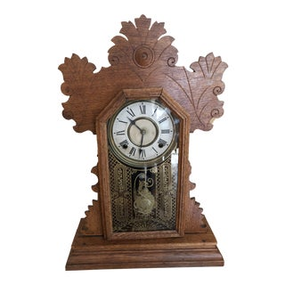 1900s Antique Black Forest Style Clock For Sale
