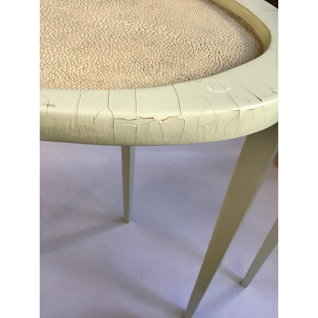 Set of Three R & Y Augousti Organic Shaped Shagreen Drink Tables For Sale - Image 12 of 13