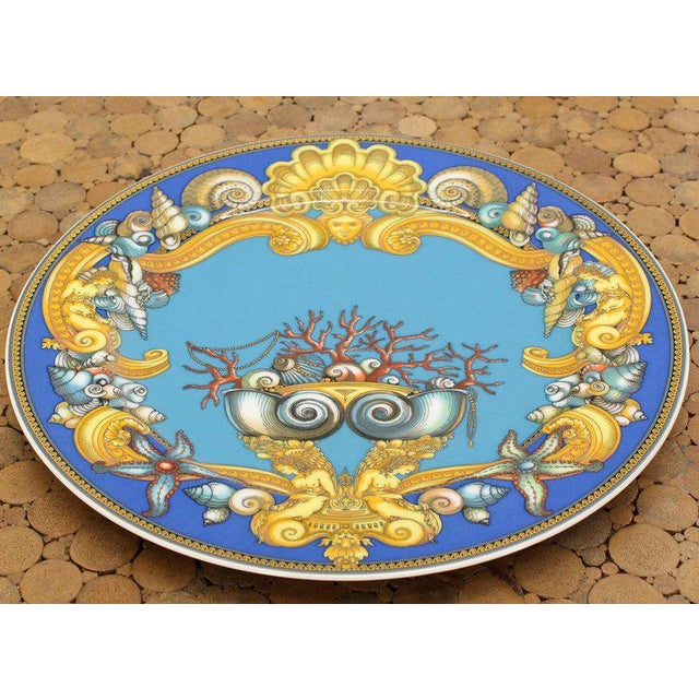 Ceramic Rosenthal Versace Porcelain Charger Plate For Sale - Image 7 of 7