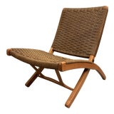 Image of Mid-Century Hans Wegner Style Folding Chair For Sale