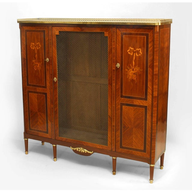 1900 - 1909 French Louis XVI Style High Cabinet For Sale - Image 5 of 5