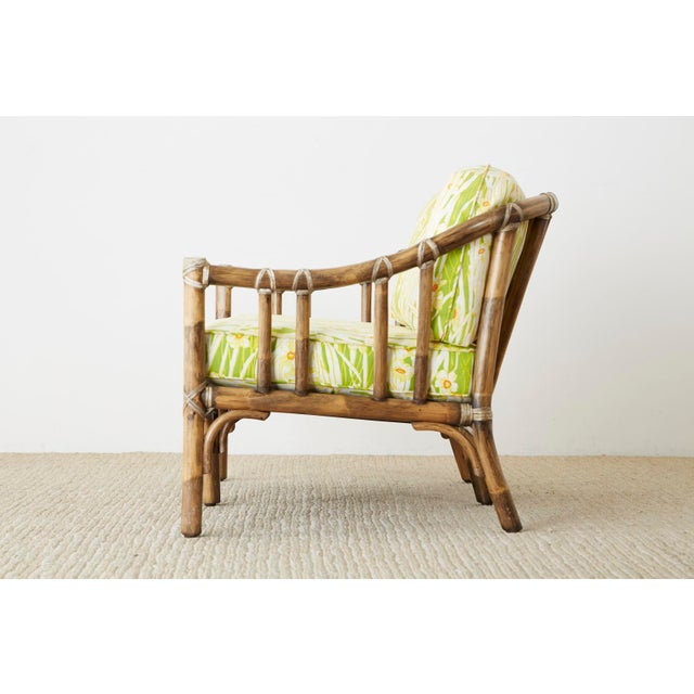McGuire Organic Modern Bamboo Rattan Settee Loveseat For Sale - Image 11 of 13