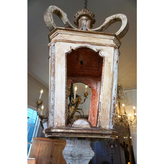 Wood Large Wooden Fragment Lantern For Sale - Image 7 of 12