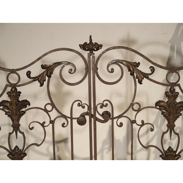 Circa 1800 French Wrought Iron 4 Section Gate - A Pair For Sale - Image 4 of 12