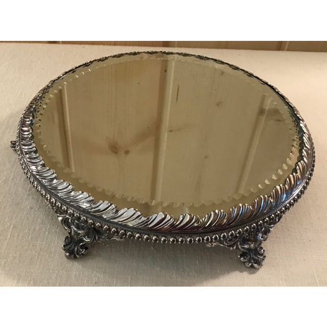 Vintage Silverplate Mirrored Plateau Stand - Image 4 of 10