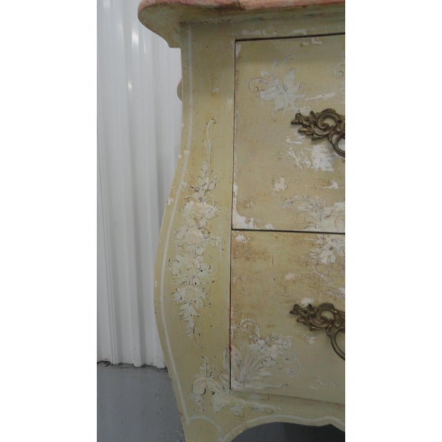 Wood 1960s Chinoiserie Painted Bombe Chest For Sale - Image 7 of 13