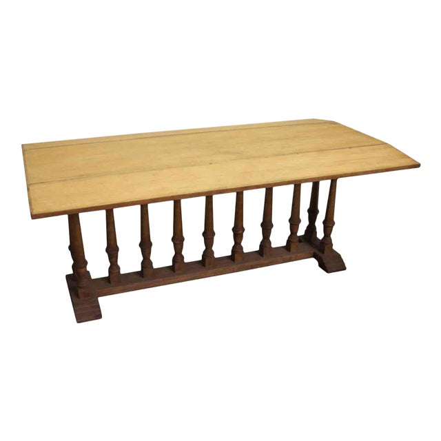 Spindle Leg Wooden Table For Sale