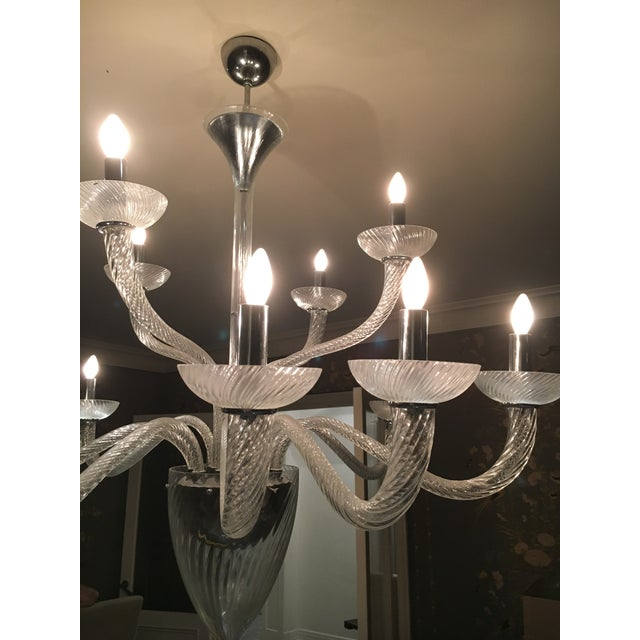 Murano Style Crystal Chandelier - Image 3 of 3