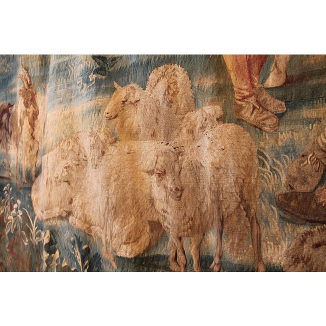 17th Century 17th Century Brussels Tapestry Signed P. Van Den Hecke For Sale - Image 5 of 8