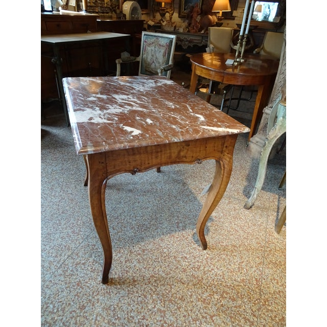 19th Century French Marble Top Table For Sale - Image 4 of 12