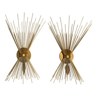 Brass Wall Sconces - A Pair For Sale