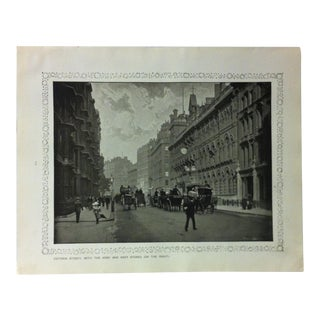 """1906 """"Victoria Street - With the Army and Navy Stores (On the Right)"""" Famous View of London Print For Sale"""