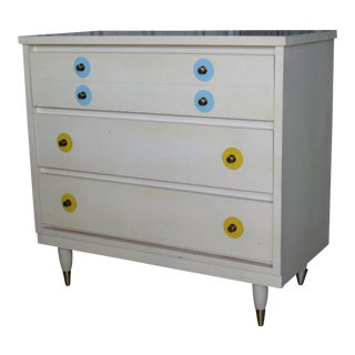 1960s Vintage Interchangeable Color Discs Bachelor Chest For Sale