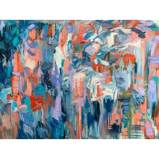 """""""September"""" Contemporary Abstract Expressionist Oil Painting by Monica Shulman For Sale"""