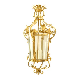 French Louis XVI Gilt Bronze Lantern For Sale