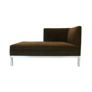 Charter Brown Jordan Chaise Lounge in Mohair Upholstery For Sale
