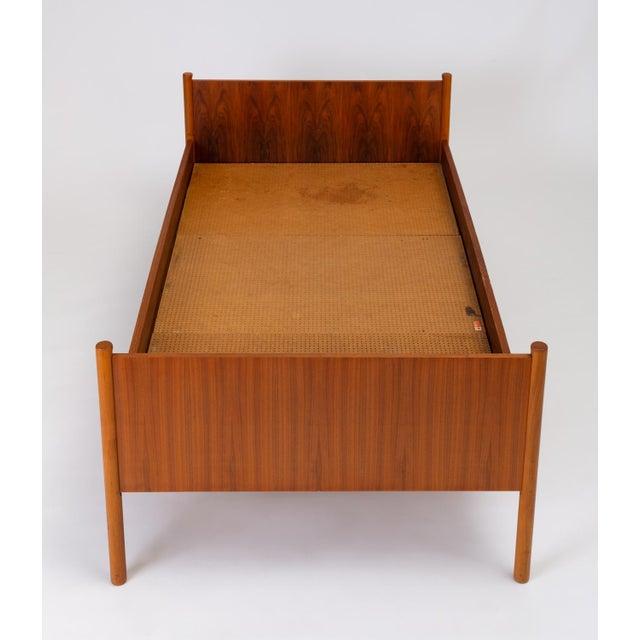 Wood Single Scandinavian Modern Twin Bed by Westnofa For Sale - Image 7 of 13