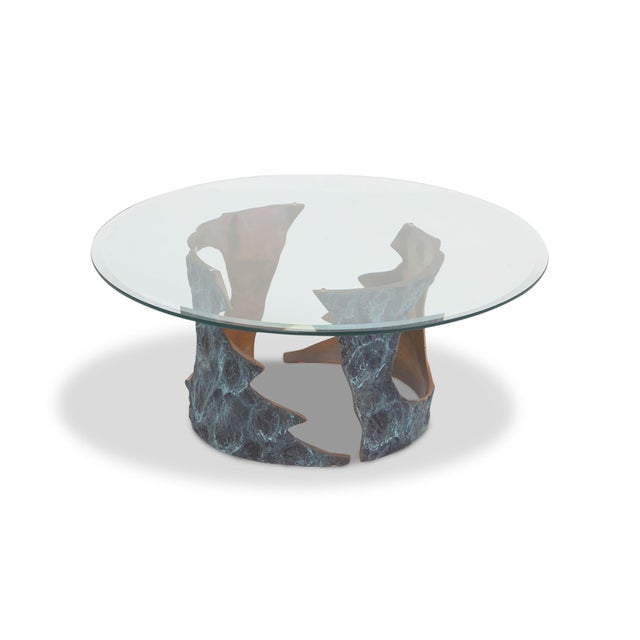 Willy Ceysens Coffee Table in Solid Bronze & Glass For Sale - Image 4 of 8
