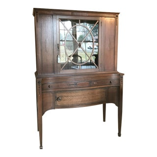 Vintge China Hutch Display Cabinet