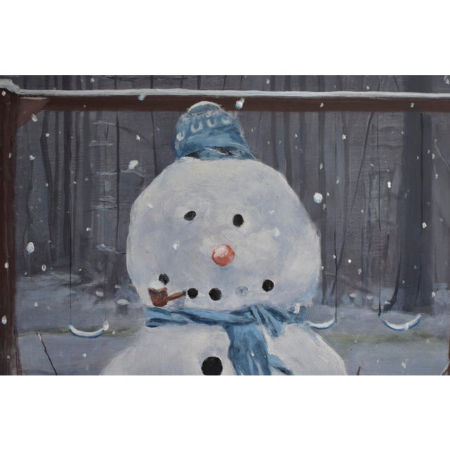 Painting of a Snowman - Image 3 of 7