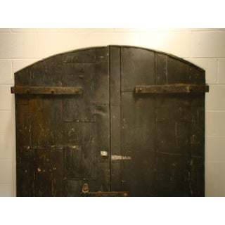 Industrial Wooden Factory Arch Top Doors - A Pair Preview