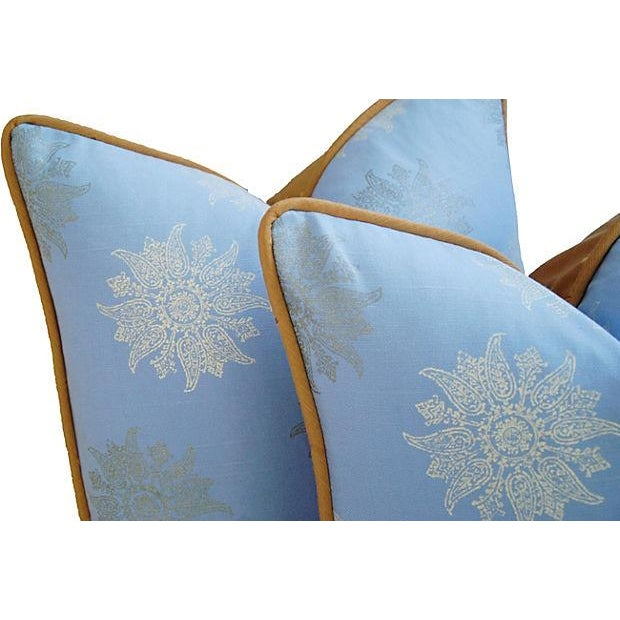 Designer Iman Lamu Twilight Aegean Pillows - Pair - Image 4 of 7