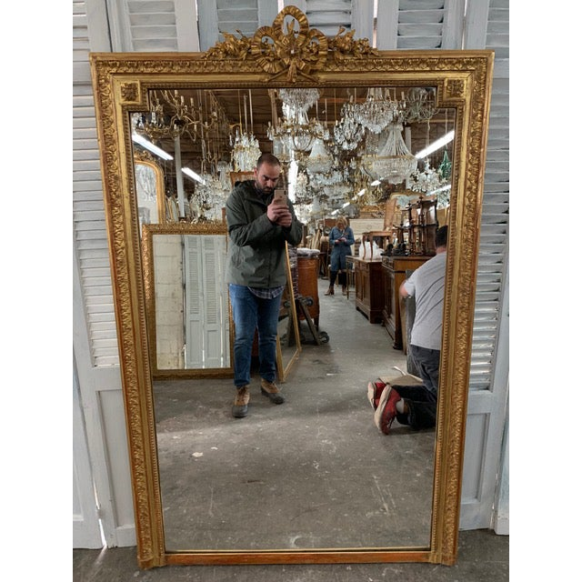 18th Century French Napoleon III Period Mirror For Sale In Atlanta - Image 6 of 6