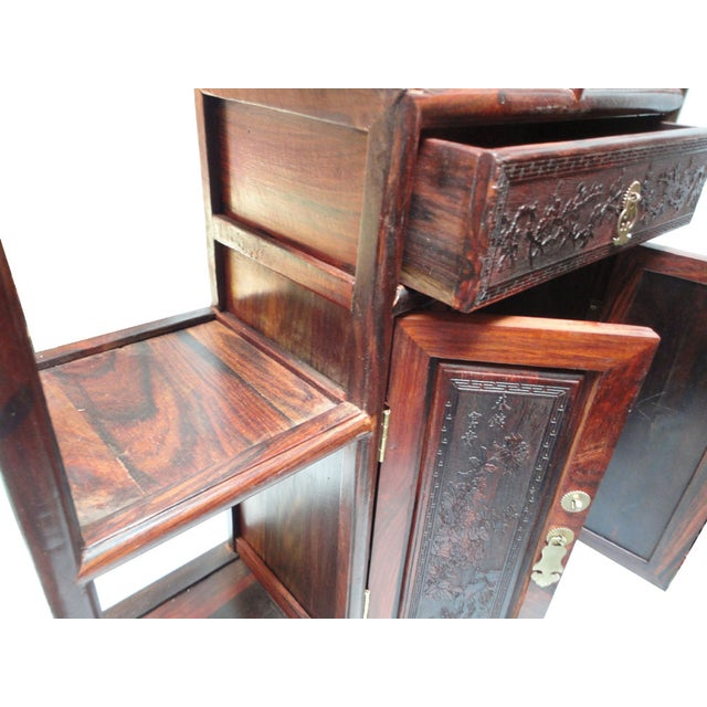 African Rosewood Desktop Display Chest Stand For Sale In San Francisco - Image 6 of 6