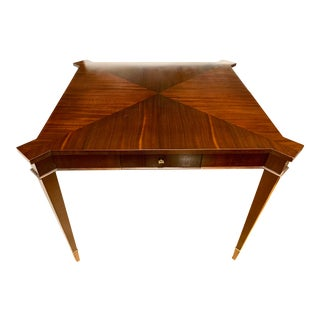 Baker Furniture Square Game Table Breakfast Table For Sale