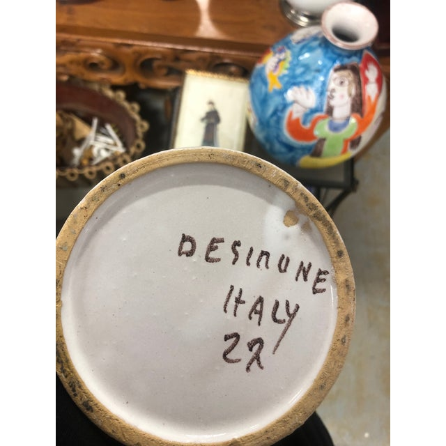 Vintage DeSimone Pottery Jar For Sale In West Palm - Image 6 of 7