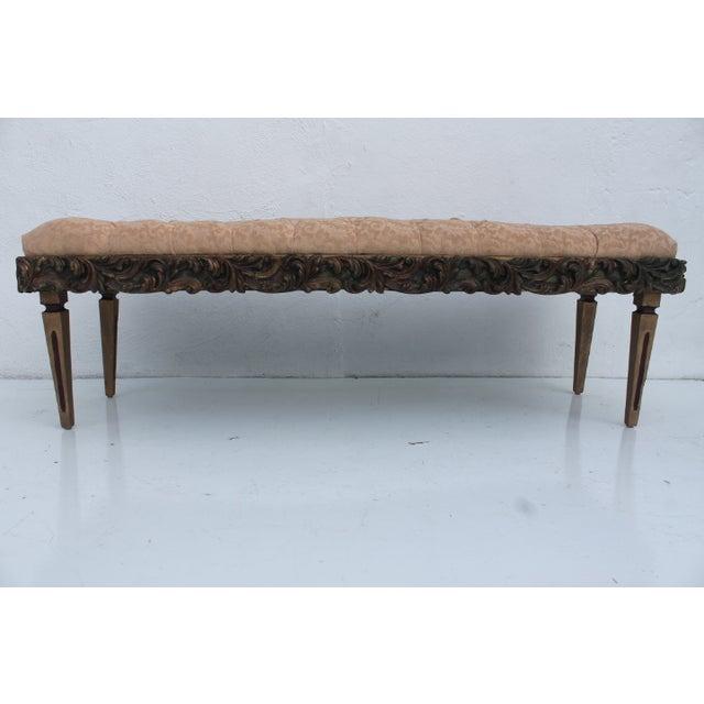 Dorothy Draper Regency-Style Tufted Bench For Sale - Image 7 of 9