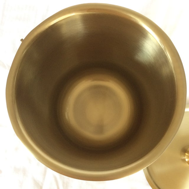 2000 - 2009 Gold Anodized Double Insulated Ice Bucket and Ice Scoop For Sale - Image 5 of 13