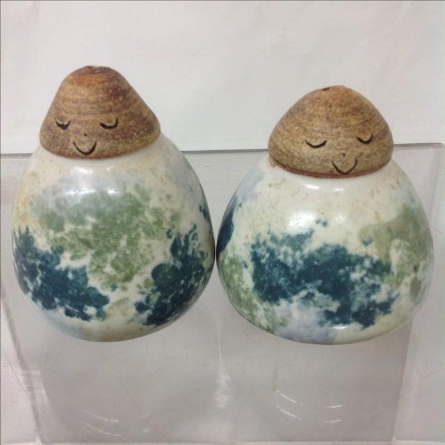 Mid-Century Danish Ceramic Salt & Pepper Shakers - Image 3 of 5