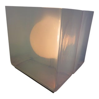 Artimede Glass Cube Table Lamp