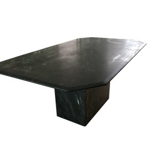 Mid Century Black Marble Dining Table For Sale