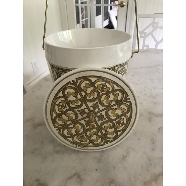 Gold 1980s Mid-Century Modern George Briard Fleur De Lis Ice Bucket For Sale - Image 8 of 10