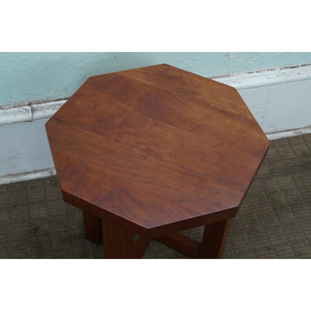 Stickley Mission Style Cherry Octagon Small Side Table Taboret Stand For Sale In Philadelphia - Image 6 of 10