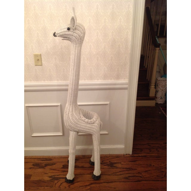 Vintage Wicker Giraffe Planter Animal Statue - Image 2 of 8