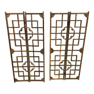19th Century Antique Japanese Window Screens - Set of 4 For Sale