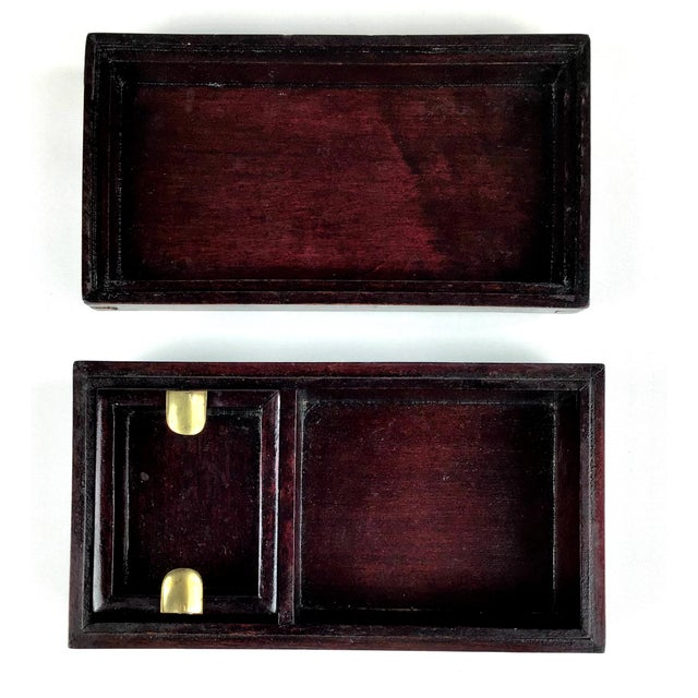 1920s 1920s Chinese Jade & Rosewood Cigarette Box For Sale - Image 5 of 13
