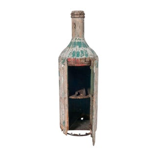 Large Free Standing Bottle Shaped Storage Cabinet For Sale
