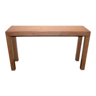 Cerused Solid Oak Console For Sale